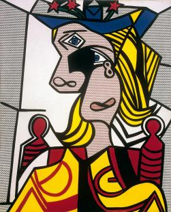 "Lichtenstein, "" Woman with Flowered Hat », 1963"